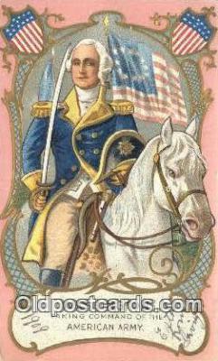 pol001167 - George Washington, 1st President USA, Political, Old Vintage Antique Postcard Post Card