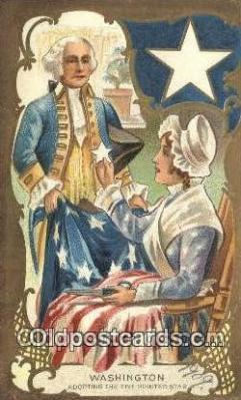 pol001168 - George Washington, 1st President USA, Political, Old Vintage Antique Postcard Post Card