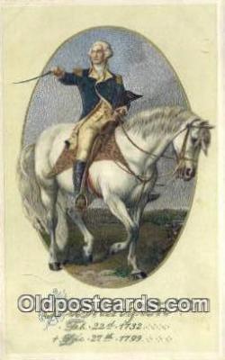 pol001172 - George Washington, 1st President USA, Political, Old Vintage Antique Postcard Post Card