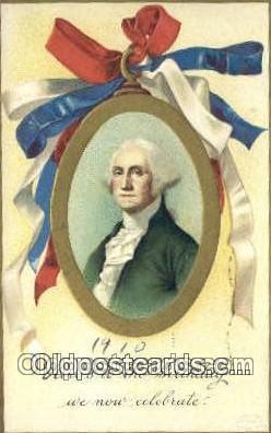 pol001178 - Artist Clapsaddle, George Washington, 1st President USA, Political, Old Vintage Antique Postcard Post Card