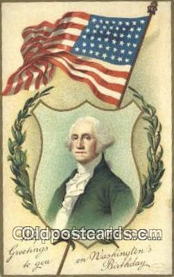 pol001181 - Artist Clapsaddle, George Washington, 1st President USA, Political, Old Vintage Antique Postcard Post Card