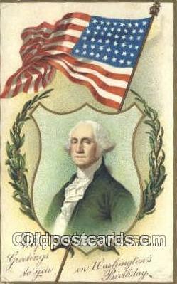 pol001193 - Artist Clapsaddle, George Washington, 1st President USA, Political, Old Vintage Antique Postcard Post Card