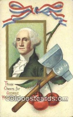 pol001245 - Artist Clapsaddle, George Washington, 1st President USA, Political, Old Vintage Antique Postcard Post Card