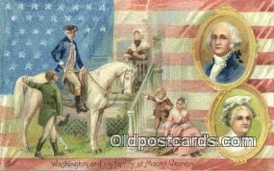 pol001275 - George Washington, 1st President USA, Political, Old Vintage Antique Postcard Post Card