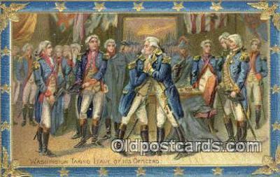 pol001277 - George Washington, 1st President USA, Political, Old Vintage Antique Postcard Post Card