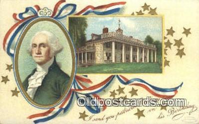 pol001282 - Artist Clapsaddle, George Washington, 1st President USA, Political, Old Vintage Antique Postcard Post Card