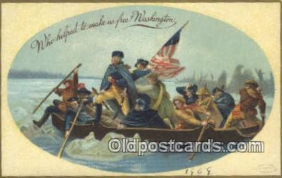 pol001303 - George Washington, 1st President USA, Political, Old Vintage Antique Postcard Post Card
