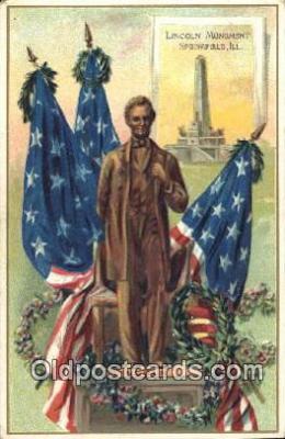 pol016045 - Abe Lincoln 16th USA President Postcard Postcards