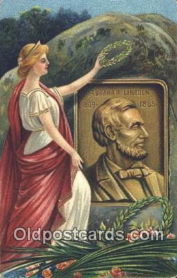 pol016054 - Abe Lincoln 16th USA President Postcard Postcards