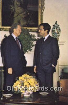 pol039102 - President Adolfo Suarez Jimmy Carter 39th USA President Postcard Postcards