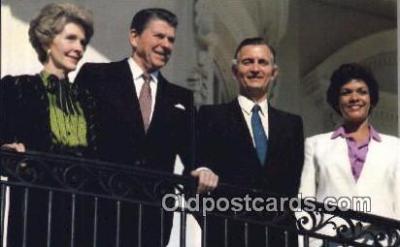 pol040015 - Jamaica's Prime Minister Ronald Regan 40th USA President Postcard Postcards