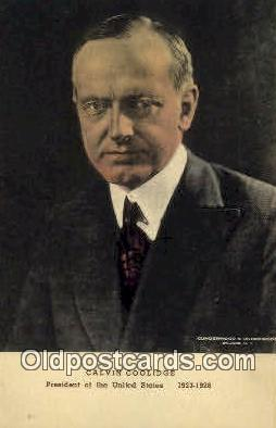 pol100060 - Calvin Coolidge President of the United States, Political Postcard Postcards