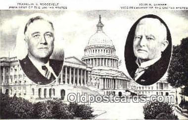 pol100244 - Franklin D. Roosevelt President of the United States John Garner Vice President, Political Postcard Postcards