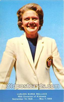 pol200018 - Lurleen Burns Wallace 48th Governor of Alabama Political Postcard Post Card