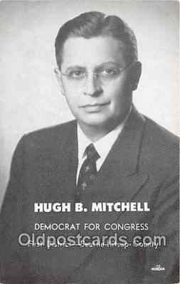 pol200047 - High B Mitchell Democrat for Congress, Seattle Kitsap County Political Postcard Post Card