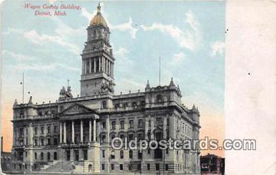 pol200084 - Wayne County Building Detroit, Mich Political Postcard Post Card
