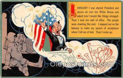 pol200100 - Dreamt I  Political Postcard Post Card