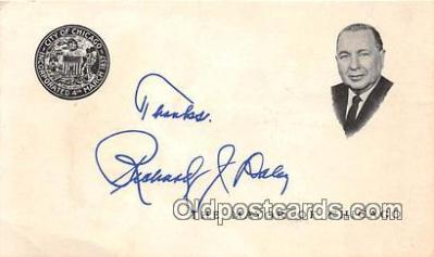 pol200103 - Non Postcard Backing - Richard Daley Mayor of Chicago Political Postcard Post Card