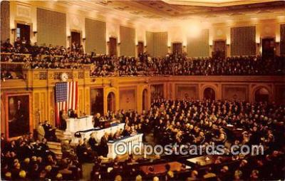 pol200145 - Joint Session US Congress Message of Congress Political Postcard Post Card