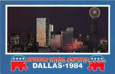 pol200146 - Republican National Convention Dallas, Texas 1984 Political Postcard Post Card