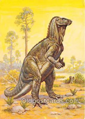 pre000047 - Iguanodon Painting by Matthew Kalmenoff Postcards Post Cards Old Vintage Antique