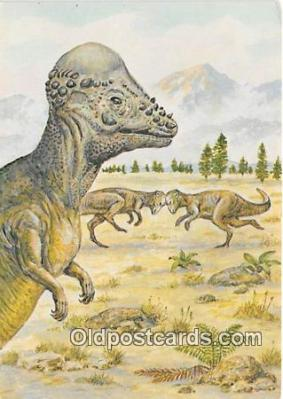 pre000048 - Pachycephalosaurus Painting by Matthew Kalmenoff Postcards Post Cards Old Vintage Antique