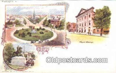 prg001007 - By American Souvenir Card Co. 1897 Washington Patriographics, Postcard Postcards