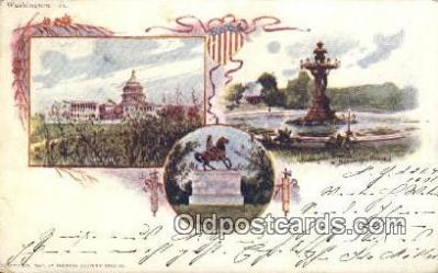 prg001021 - By American Souvenir Card Co. 1897 Washington Patriographics, Postcard Postcards
