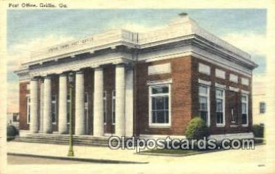 pst001049 - Griffin, GA USA,  Post Office Postcard, Postoffice Post Card Old Vintage Antique