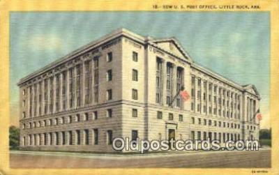 pst001050 - Little Rock, Ark USA,  Post Office Postcard, Postoffice Post Card Old Vintage Antique