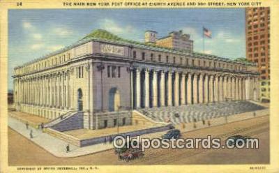 pst001058 - New York City, NY USA,  Post Office Postcard, Postoffice Post Card Old Vintage Antique