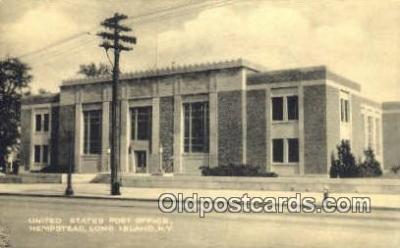 pst001061 - Long Island, NY USA,  Post Office Postcard, Postoffice Post Card Old Vintage Antique