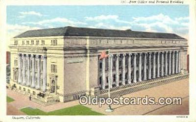 pst001078 - Denver, CO USA,  Post Office Postcard, Postoffice Post Card Old Vintage Antique