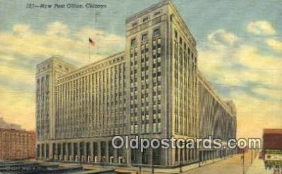 pst001084 - Chicago, IL USA,  Post Office Postcard, Postoffice Post Card Old Vintage Antique
