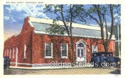 pst001089 - Nantucket, Mass USA,  Post Office Postcard, Postoffice Post Card Old Vintage Antique