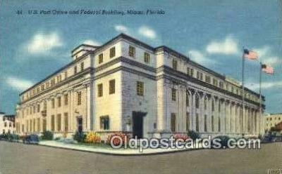 pst001097 - Miami, FL USA,  Post Office Postcard, Postoffice Post Card Old Vintage Antique