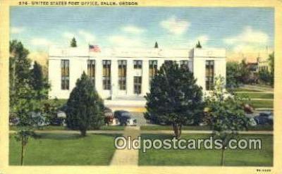 pst001102 - Salem, Oregon USA,  Post Office Postcard, Postoffice Post Card Old Vintage Antique