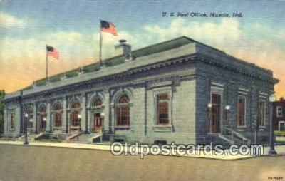 pst001105 - Muncie, Ind USA,  Post Office Postcard, Postoffice Post Card Old Vintage Antique