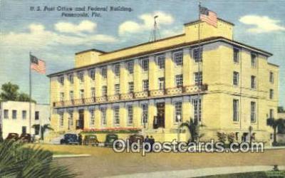 pst001108 - Pensacola, FL USA,  Post Office Postcard, Postoffice Post Card Old Vintage Antique