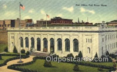 pst001111 - Fall River, Mass USA,  Post Office Postcard, Postoffice Post Card Old Vintage Antique