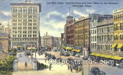 pst001150 - Worcester, Mass USA,  Post Office Postcard, Postoffice Post Card Old Vintage Antique