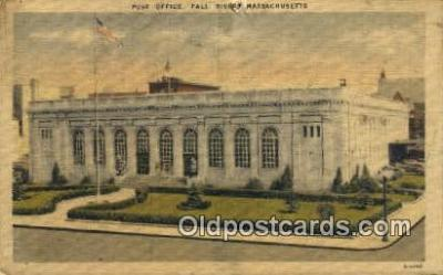 pst001166 - Fall River, Mass USA,  Post Office Postcard, Postoffice Post Card Old Vintage Antique