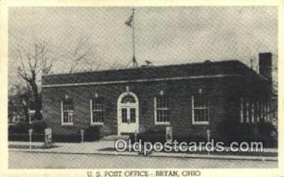 pst001206 - Bryan, OH USA,  Post Office Postcard, Postoffice Post Card Old Vintage Antique