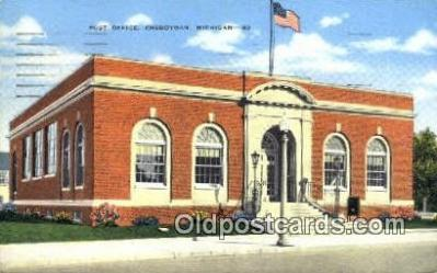 pst001257 - Cheboygan, MI USA,  Post Office Postcard, Postoffice Post Card Old Vintage Antique