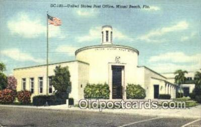 pst001264 - Miami Beach, FL USA,  Post Office Postcard, Postoffice Post Card Old Vintage Antique