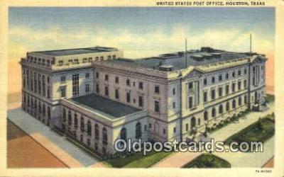 pst001273 - Houston, TX USA,  Post Office Postcard, Postoffice Post Card Old Vintage Antique