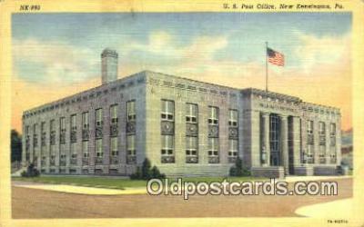 pst001284 - New Kensington, PA USA,  Post Office Postcard, Postoffice Post Card Old Vintage Antique