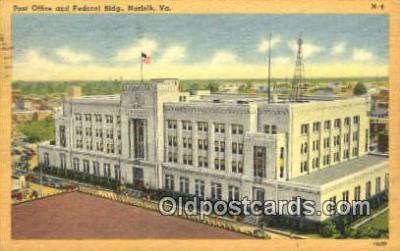 pst001288 - Norfolk, VA USA,  Post Office Postcard, Postoffice Post Card Old Vintage Antique