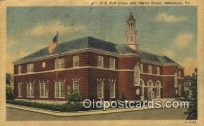 pst001290 - Petersburg, VA USA,  Post Office Postcard, Postoffice Post Card Old Vintage Antique