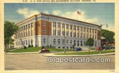 pst001291 - Roanoke, VA USA,  Post Office Postcard, Postoffice Post Card Old Vintage Antique